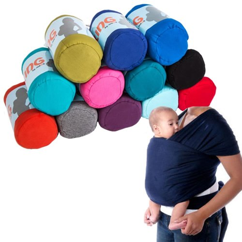 46e9009a0e9 Jazooli Adjustable Baby Sling Stretchy Wrap Carrier Pouch Infant Birth  Breastfeeding