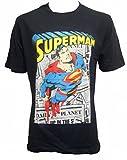 Superman - Camiseta - Manga Corta - para Hombre Azul Azul Large