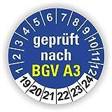 5-1.000 Stück Prüfplaketten Prüfetiketten Wartungsetiketten BGV A3 Prüfung Ø 30mm (Blau 250 Stück)