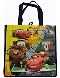 Navy Blue Disney Cars World Gran Prix Tote Bag