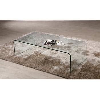Tavolino da salotto cristallo curvato Coffee Cube spessore 12mm. Design e  stile unici, Prezzo Outlet