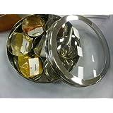Falconsuperstore Pot à épices en acier inoxydable à couvercle hermétique Livré avec 11 épices indiennes 18cm