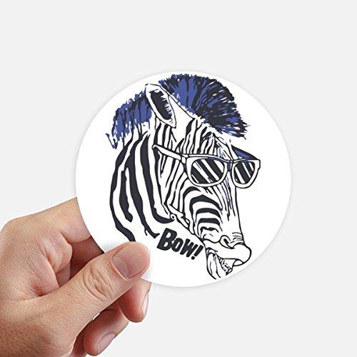 DIYthinker Kühler Zebra-Sonnenbrille Tier Aufkleber 10Cm Wand Koffer Laptop Motobike Aufkleber 8Pcs Diameter 10Cm Mehrfarbig