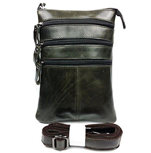 Männer Leichtes Business Casual Trendy Geneigte Schulterbeutel Quadratische Tasche Grün Green