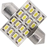 2X 31mm 16 SMD LED Matricular Interior Festoon Bombilla