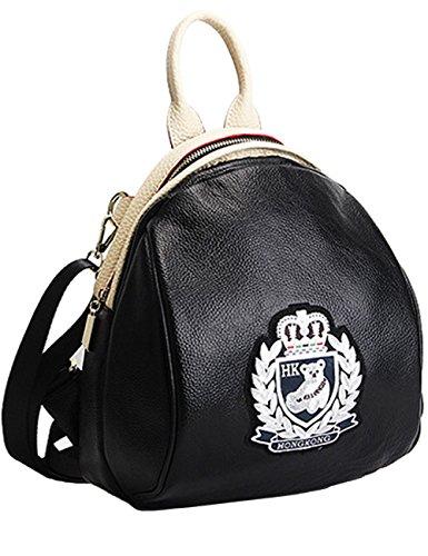 Menschwear Damen Echtes Leder Rucksack Wandern Reisetasche Silber Silber