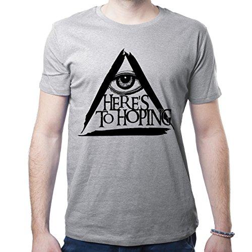 Illuminati Triangle Art Majestic Heres To Hoping Herren T-Shirt Grau