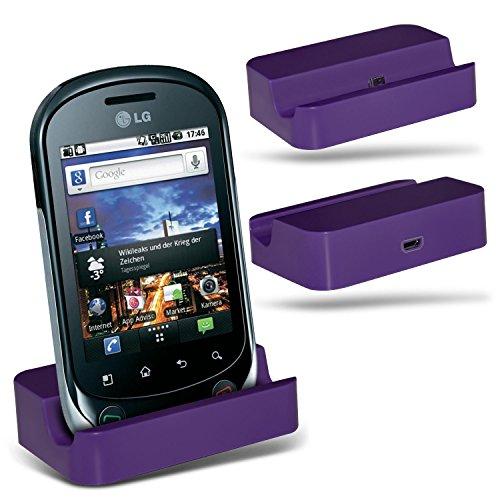 (Purple)LG Optimus Chat C550 Micro-USB-Desktop-Ladestation stehen Berg By ONX3