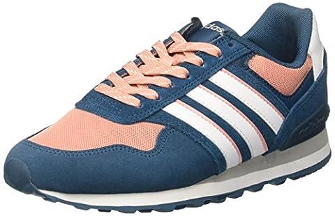 adidas 10k, Sneakers Basses Femme, Rose (Petrol Night/Footwear White/Trace Pink), 36 2/3 EU
