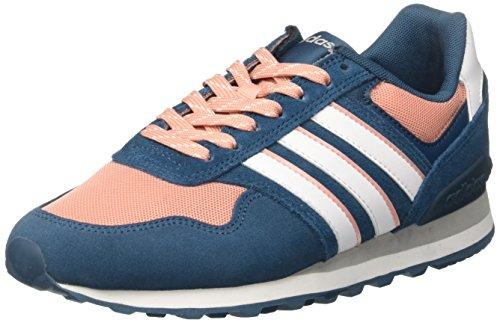 adidas Damen 10K Sneaker, Blau (Petrol Tenebrosity/Footwear White/Trace Pink), 38 2/3 EU