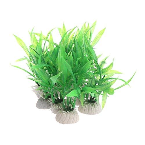 ecmqs 10pezzi aquarienpflanzen artificiale Acquario Acqua decorazione ornamento Kunststoff Verde erba acquario COMPUTER 2016NUOVA vendita