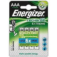 Energizer E300624400 Pila Ricaricabile, 4 Pezzi, Grigio
