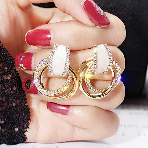 S925 Silber Pin Cförmigen Diamant Ohrringe Temperament Mode Fünfzackigen Stern Ohrstecker Geometrische Ohrringe Frauen 25 -