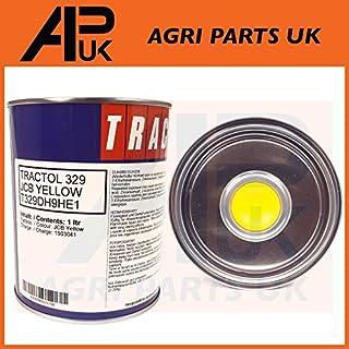 APUK JCB 1 Litre Digger Yellow Tractol Paint 1L Machinery Plant Excavator 3CX Enamel