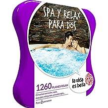 LA VIDA ES BELLA - Caja Regalo - SPA Y RELAX PARA DOS - 1260 planes de bienestar como circuitos termales, masajes relajantes y mucho más