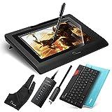 Parblo Coast10 10.1 Zeichnung Grafik Monitor Grafiktabletts Anzeige Graphic Drawing Display mit Batterie frei Stift Pen und 9 Bluetooth Tastatur /PU-Leder Etui