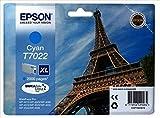 Epson T7022 Tintenpatrone Eiffelturm XL, Singlepack cyan