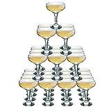 Rink Drink Coupes à Champagne pour Fontaine de Champagne - 4 étages - 30 Coupes de 200ml