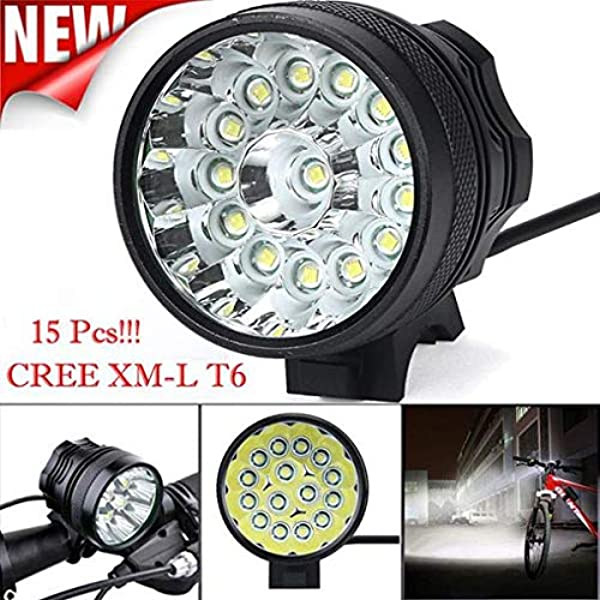 10000Lm XM-L2 LED Cycling Head Front Bike Bicycle Light Lamp Headlight+Battery