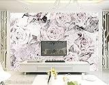 HHCYY Benutzerdefinierte Tapete Vintage Garten Rosen Tv Wohnzimmer Schlafzimmer 3D Tapete-120cmx100cm