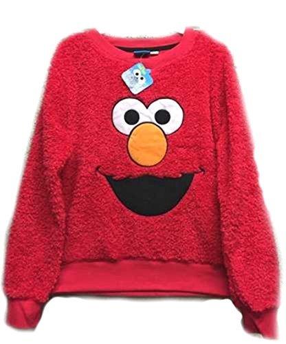 Donna Elmo Snuggle Pile Rosso Maglione Sesame Street Top - Rosso, 6-8