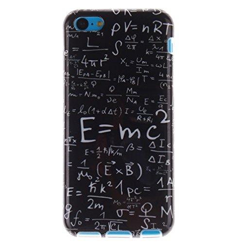 KATUMO®Apple iPhone 5C Custodia in Silicone Sottile Design Protettive Cover per Apple iPhone 5C Gel Case,Lettera Cartone Animato Formula Matematica