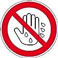 Verbotszeichen - Berühren mit nasser Hand verboten - Aluminium