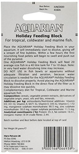 Aquarian Holiday Feeding Block, 28g 4