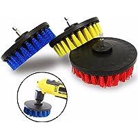 Herramientas para trabajar la madera Cepillo de limpieza de 5 pulgadas Cepillo de brocha eléctrico de cerdas rojas/amarillas / azules Cepillo de limpieza Cepillo de eliminación de polvo