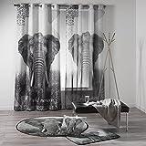 Douceur d 'Interieur Ösengardine 140x 260cm bedruckt Polyester D/P Elefant, mehrfarbig