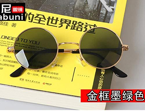 Hip-Hop Prince Spiegel Paar Retro Sonnenbrille Sonnenbrille Runde Hipster Männer und Frauen Kästchen mit Grad Brille