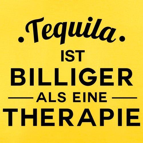 Tequila ist billiger als eine Therapie - Herren T-Shirt - 13 Farben Gelb
