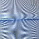 Stoff aus Baumwollmischgewebe, 50 cm x 140 cm, Blau/Weiß