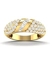 Vijisan 2.96 Ct. Gold Rhodium Plated 925 Sterling Silver Designer Ring For Women