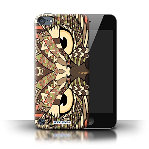 Stuff4® Hülle/Hülle für Apple iPod Touch 5 (5th Generation) / Eule-Sepia Muster/Aztec Tier Muster Kollektion (Ipod 4. Generation Eule Case)