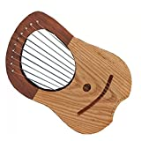 Lyre harpe Metal 10Instruments à cordes Shesham Bois/Lyra harpe/Lyre Harfe/Coque