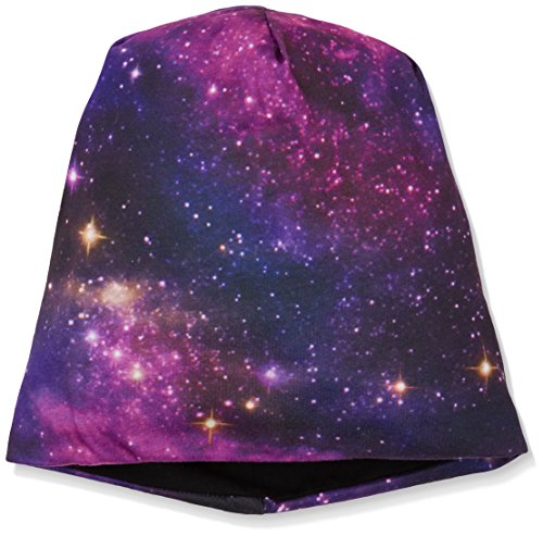 MSTRDS Printed Jersey Beanie, Galaxy/Black, one size -