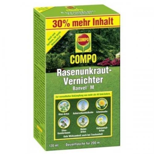 COMPO Rasenunkraut-Vernichter Banvel M 120 ml, Unkrautvernichter, Unkraut- Ex