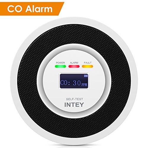 INTEY CO Melder Mikro-Kontrolle Elektrochemischer Sensor Kohlenmonoxidwarnmelder Hohe Empfindlichkeit & starke Anti-Interferenz Ton [Niedriger Standby-Stromverbrauch]