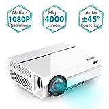 Proiettore Full HD, ABOX A6 Videoproiettore da 4500 Lumen, Risoluzione Nativa 1920x1080P Correzione Trapezoidale, per Fire TV Stick / Chromecast / TV BOX con HDMI / SD / AV / VGA / USB