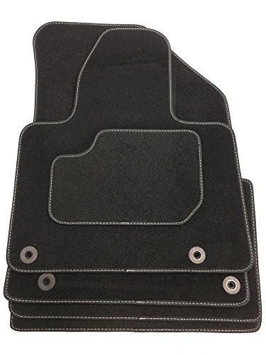 Velours Fußmatten bestehend aus Vier Teilen in schwarz (L) CIT160