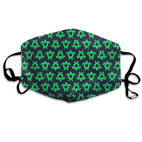 Nicegift Schildkröten-Gesichtsmaske, gegen Staub, waschbeständig, Türkis -