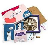 Taumur Paracord-Set für einfache Hundeleine - Goldbraun/pink