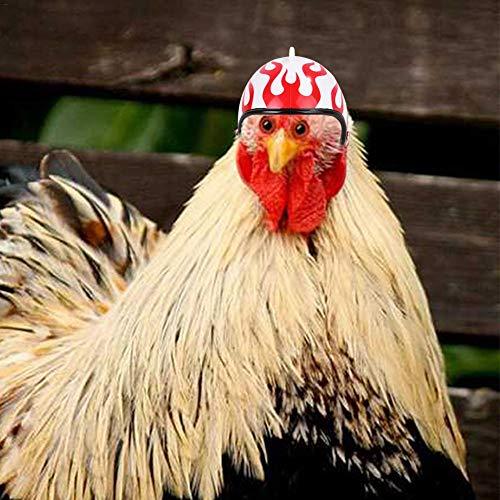 Bouncevi-Pet-Chicken-Helmet-Hhnerhelm-Haar-Hte-Kleine-Haustier-Schutzhelm-Vogel-Hut-Kopfbedeckung-Fr-Huhn-Ente-Und-Anderes-Kleines-Haustier-des-Geflgels