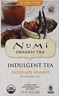 Numi Organic Indulgent Tea, Chocolate Rooibos, Caffeine Free Herbal Teasan, 12 Count Tea Bags (Pack of 3)