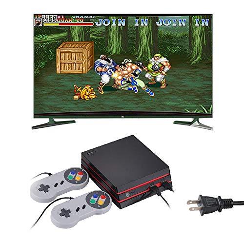 Retro-Spielkonsole 4K HDMI Video eingebaut 300 klassische Spiele Retro mit Batterien Joysticks US Schwarz