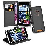 Cadorabo Coque pour Nokia Lumia 830 en Noir DE Jais - Housse Protection avec Fermoire Magnétique, Stand Horizontal et Fente Carte - Portefeuille Etui Poche Folio Case Cover