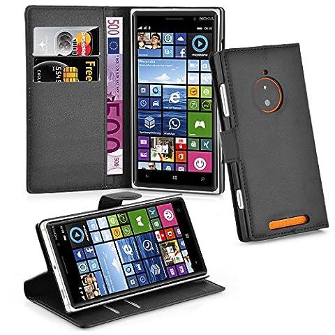 Cadorabo - Book Style Hülle für Nokia Lumia 830 - Case Cover Schutzhülle Etui Tasche mit Standfunktion und Kartenfach in