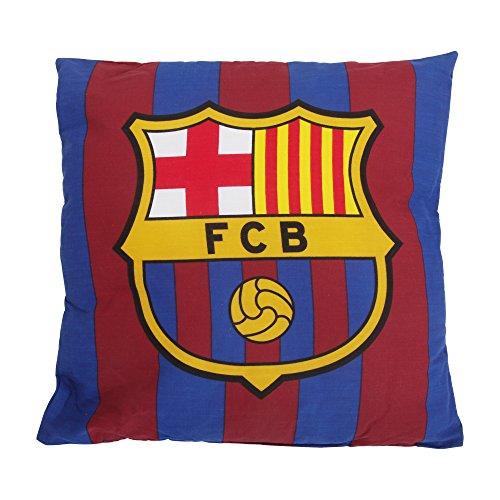 Cójin cuadrado de la marca FC Barcelona. 100% microfibra. 37x37cm. Este es un producto oficial manufacturado bajo la licencia del FC Barcelona.