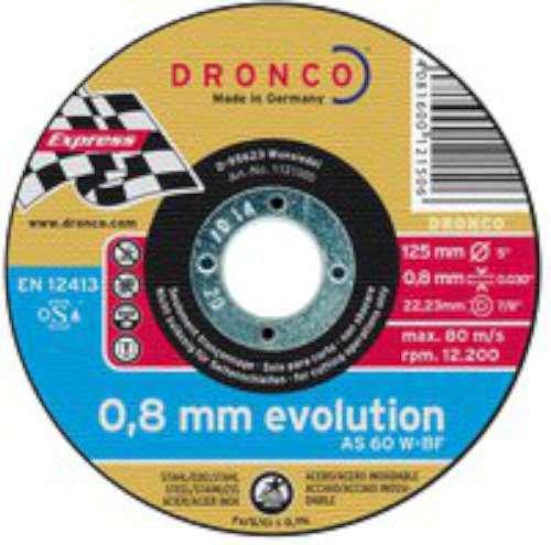 DRONCO EVOLUTION - DISCO CORTE EVOLUTION 125X0 8X22 23MM METAL